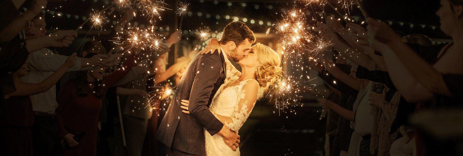 wedding sparklers slider