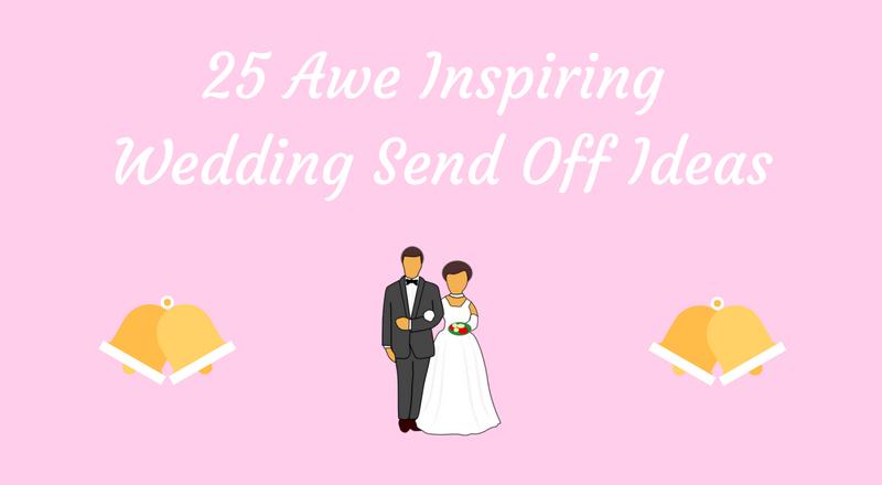 wedding send off ideas banner