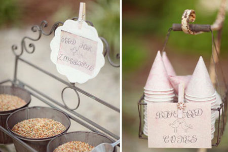 birdseed send off idea