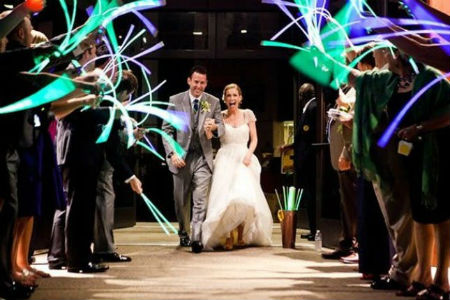glow stick wedding send off