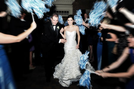 pom poms wedding idea