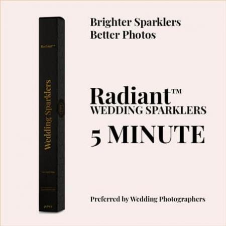 5 Minute Radiant™ Wedding Sparklers (48Qty)