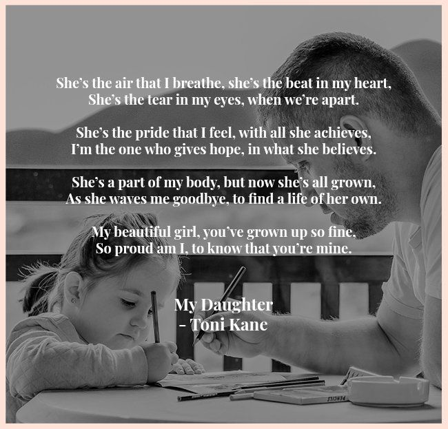 proud father daughter poems
