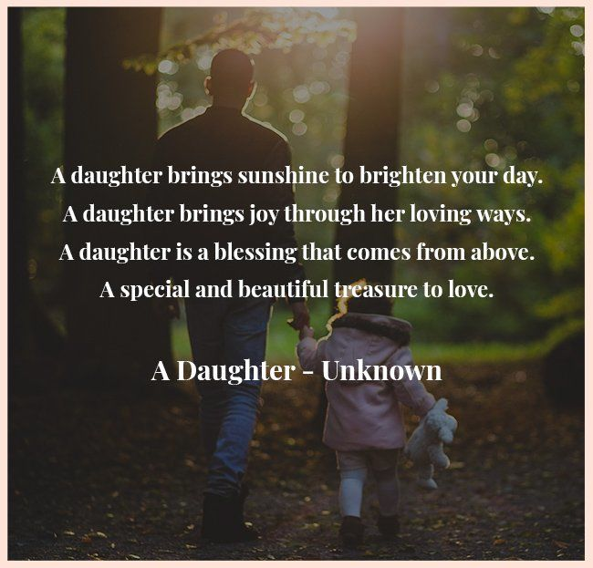 short father daughter poem