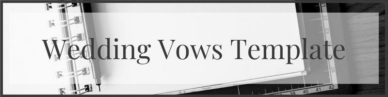 wedding vows template