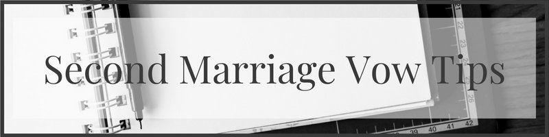 second marriage vow tips