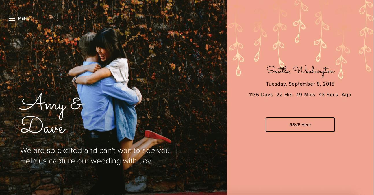 Joy Wedding Website.The Best Wedding Websites How To Select The Perfect Website Builder