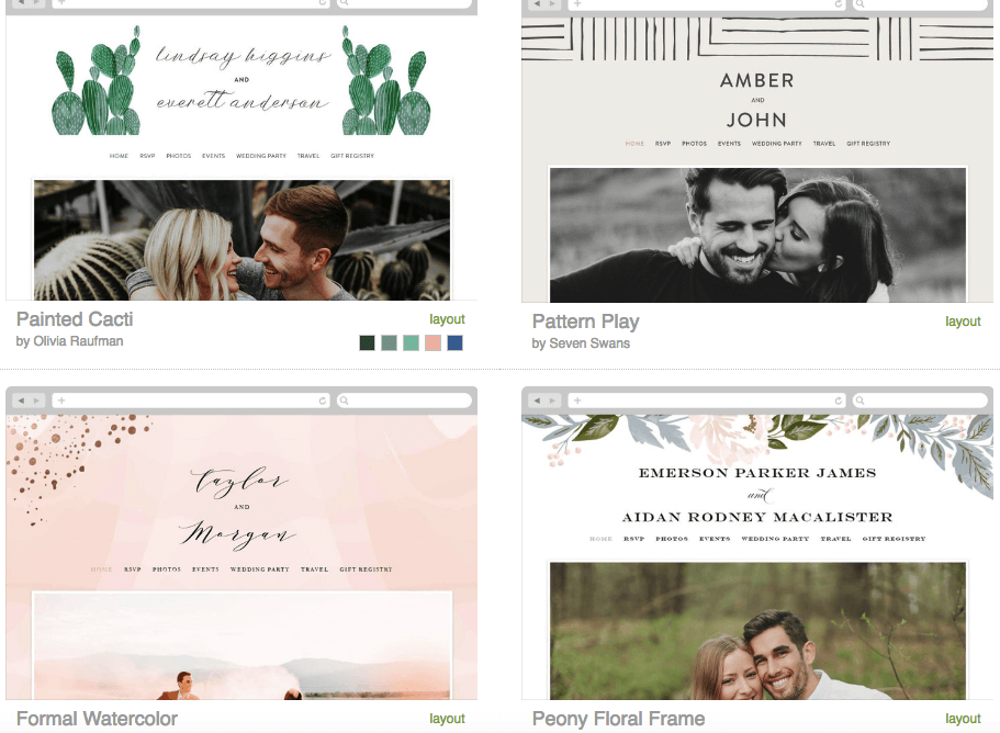 Minted Wedding Website.The Best Wedding Websites How To Select The Perfect Website Builder