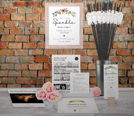 Flowery Sparkler Send Off Kit