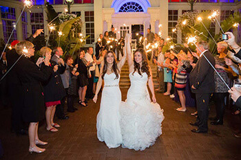 long sparkler wedding exit