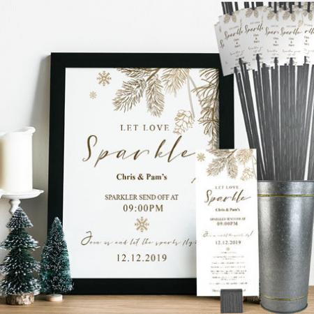 Winter Sparkler Send Off Kit