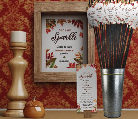 Autumn Sparkler Send Off Kit