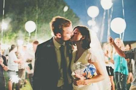 led balloons wedding send off