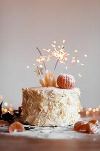 Sparklers on Cake